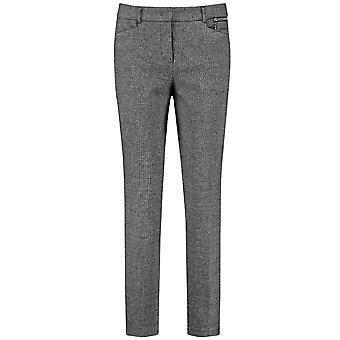 Taifun Grey Fine Check Trousers