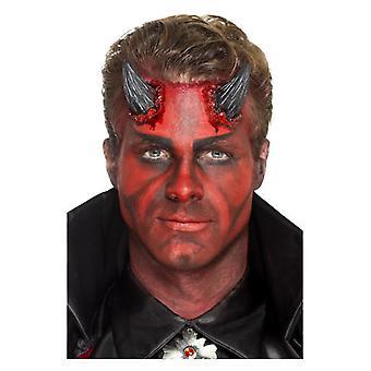 Latex Realistisk Devil Horn Proteser med Adhesive Halloween Make Up