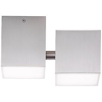 AEG Lamp Gillian LED-plafondlamp 3flg alu | 3x 3W LED geïntegreerd (SMD), (300lm, 3000K) | Schaal A++ naar E | Element draaien