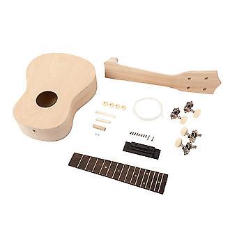 21inch DIY Ukulele Kit Maple Guitar 4 String Guitar for Beginners