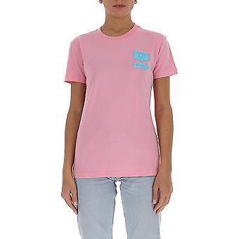 Chiara Ferragni Cft095pnk Women-apos;s Pink Cotton T-shirt