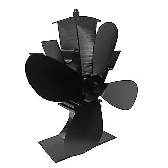 Cheminée 4 Lame Heat Powered Poêle Fan Log Wood Burner Eco Friendly Quiet