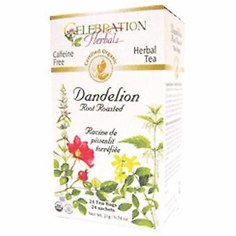 Celebration Herbals Organic Dandelion Root Roasted Tea, 24 Bags