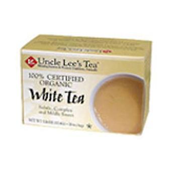Uncle Lees Teas Organic White Tea, White, 18 Bag