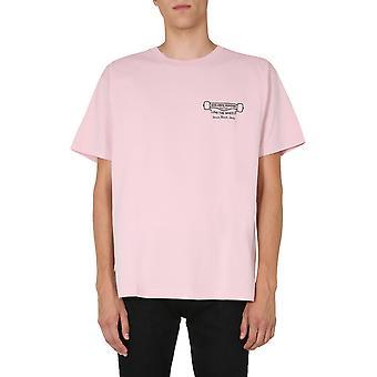 Golden Goose Gmp00463p00019825533 Men's camiseta de algodón rosa