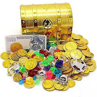 3-species Plastic Treasure Coins, Captain Pirate Party Treasure, Chest Coin Toy