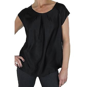 Women's Summer Short Sleeve Shirt Ladies Silky Shiny Loose Fit Smart Casual Formal Office Work Wear Blouse Top 8-12