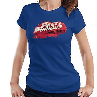 Hurtig og Furious Logo Character Baggrund Kvinder's T-shirt