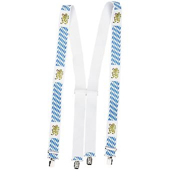Shenky suspenders, 4 clips, X-shape, unisex