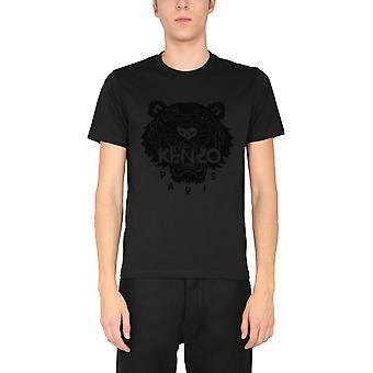 Kenzo Fa65ts0204yj99 Men's Black Cotton T-shirt