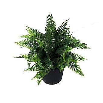 Small Potted Artificial Persa Boston Fern Plant Uv Resistant 20 Cm