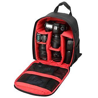 INDEPMAN DL-B012 Portable Outdoor Sports Backpack Camera Bag for GoPro, SJCAM, Nikon, Canon, Xiaomi Xiaoyi YI, Size: 27.5 * 12.5 * 34 cm(Red)