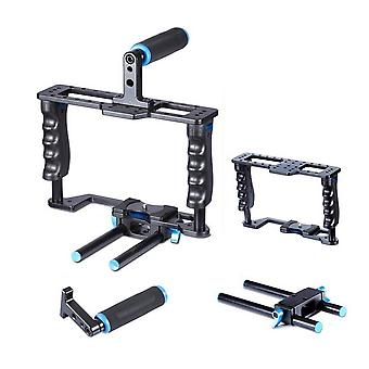 YELANGU YLG0107E-A Protective Cage Handle Stabilizer Top Set for DSLR Camera