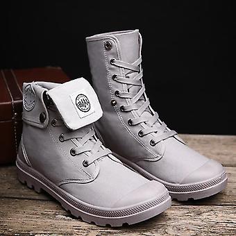 Mannen militaire laarzen, High Top Men Casual Schoenen Enkel Boots