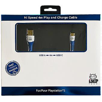 High speed 4 metre play & charge cable (ps5)