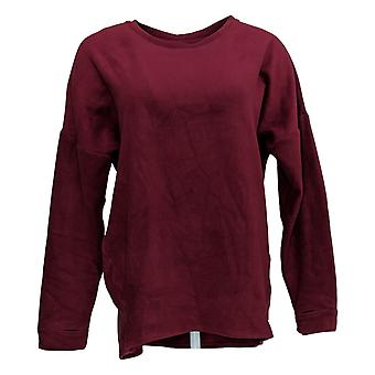Cuddl Duds Women's Sweater Fleece Stretch Long Sleeve Pullover Red A293093