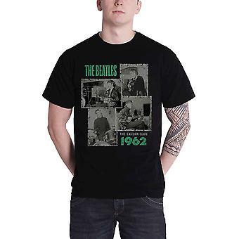 חולצת T החיפושיות מערה יריות 1962 לוגו הלהקה החדש Mens שחור