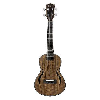 26 Inch Walnut Wood 18 Fret Tenor Ukulele Acoustic Cutaway Guitar Ukelele Hawaii 4 String Guitarra