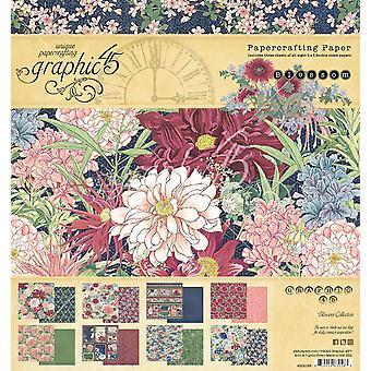 Graphic 45 Blossom 8x8 Inch Paper Pad