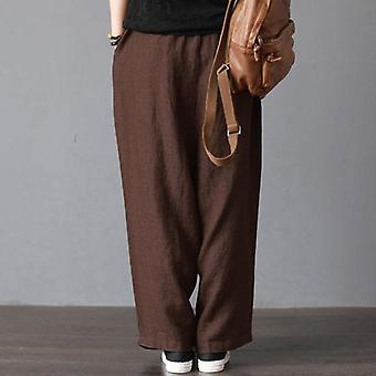 Men Casual Loose Wide Leg Pants Cotton Linen Casual Bloomers Trousers