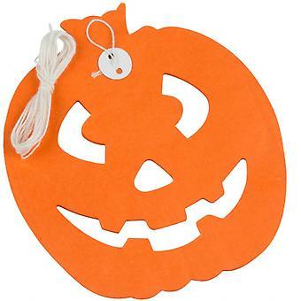 Slinger Pompoen Halloween 3 Meter Papier Oranje