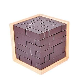 Original 3d Wooden Brain Teaser Puzzle Intelligence Unlock Game Educational Toys For Children And Adults