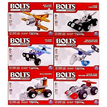 2-Pack Meccano Bolts Kit Mini Build Your Own Vehicle DIY