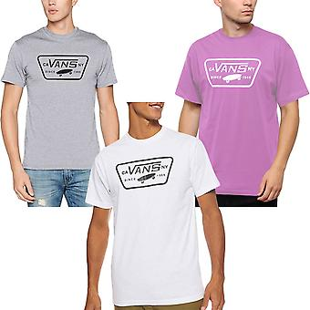 Vans Mens Full Patch Short Sleeve Crew Neck Casual Cotton T-Shirt Top Tee