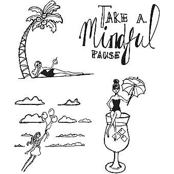 Spellbinders Jane Davenport Mindful Pause Clear Stamp Set