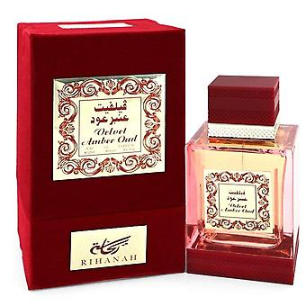 Velvet Amber Oud Eau De Parfum Spray By Rihanah 4.2 oz Eau De Parfum Spray