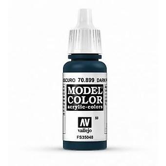 Vallejo Model Color 17ml Acrylic Paint - 899 Dark Prussian Blue