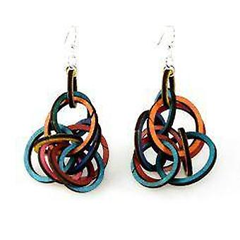 Interlocking Ring Earrings # 1215