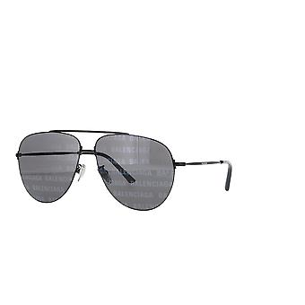 Balenciaga BB0013S 010 Black/Grey Mirror Sunglasses