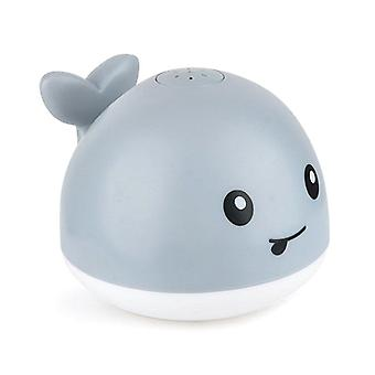 Electric Induction Water Jet, Whale Shape Toy With Light And Music, For Baby