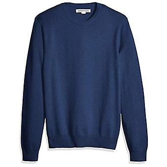 Essentials Menn's Crewneck Genser, Blå Heather, X-Small