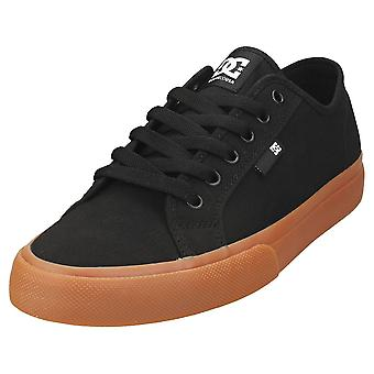 DC Shoes Manual Mens Casual Trainers in Black Gum