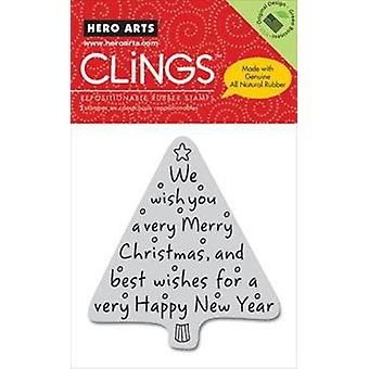 Hero Arts Weihnachtsmarken - Frohe Weihnachtsbaum