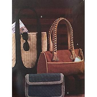 Vogue Patrón de costura 7948 Accesorios Tres bolsos forrados
