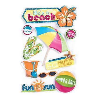 Paper House Productions - 3D Stickers - Life's A Beach