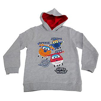 Super Wings Toddler Boys Jerome Donnie And Jett Character Hoodie