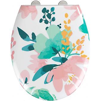 Toiletbril Bloemrijk 37 x 44,5 cm duroplast multicolor