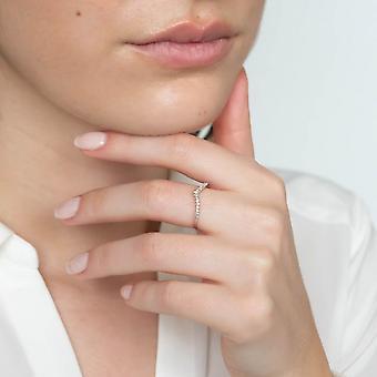 Anello 'Pretty V' Oro Bianco e Diamanti