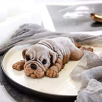 DIY 3D silicona Sharpei pastel perro molde cupcake hornear molde Muffin Molde herramientas decorativas