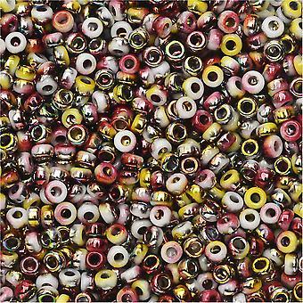 Beadsmith Unions, 11/0 Pyöreät siemenet, 24 Gram Tube, Läpinäkymätön Valkoinen Funky Apple