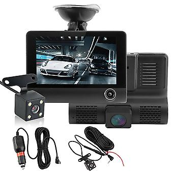 4-tommer Lcd High Definition 1080p 32GB 3 Lens Vehicle Dvr Driving Recorder