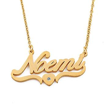 Kigu Noemi - Necklace with heart-shaped pendant, gold plated, for woman, girlfriend, mother, sister, friends, bag and box