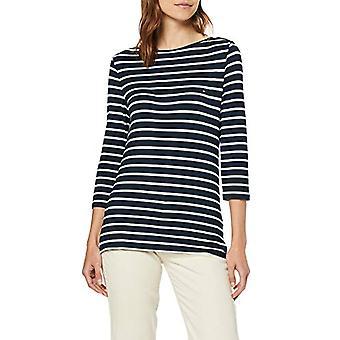טומי הילפיגר מורשת סירה צוואר טי 3/4 חולצת טריקו, כחול (חצות / קלאסי לבן 903), X-Large אישה