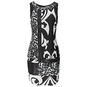 Frank Lyman Black & White Sleeveless Shift Dress