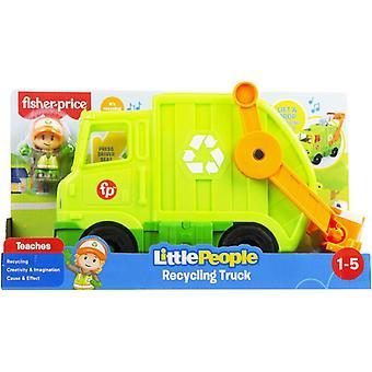 Fisher-Price poco gente camión de reciclaje