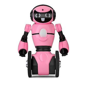 RC Roboter WLtoys F4 WIFI Kamera intelligente Vermeidung RC Roboter mit Spielzeug Geschenk Spielzeug Gifs Roboter(Pink)